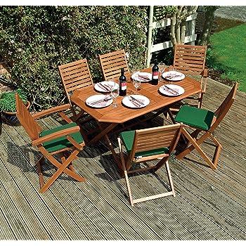 Rowlinson Plumley 6 Seater FSC Hardwood Garden Dining Set