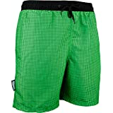 GUGGEN Men's Swimming Trunks Out of High-Tec Material Swim Shorts Bathing Drawers Bathers Slip Checked Blue Purple