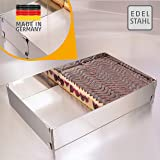Cadre pâtisserie – Made in Germany cadre à pâtisserie rectangulaire, réglable, à fixation par pinces – moule pâtisserie recta