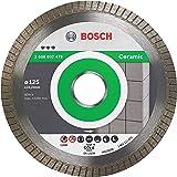 Bosch Professional Disco de diamante Best for Ceramic Extra Clean Turbo (cerámica dura, 125 x 22,23 mm, accesorio para amolad