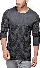Unisopent Men's Round Neck Full Printed Cotton T-Shirt