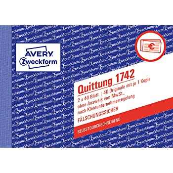 Sigel Sd120 Quittungsblock Für Kleinunternehmer A6 Quer 2x30 Blatt