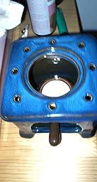 Piquaboo Quemador de cerámica Brillante Estilo hornillo para derretir Cera (Azul)