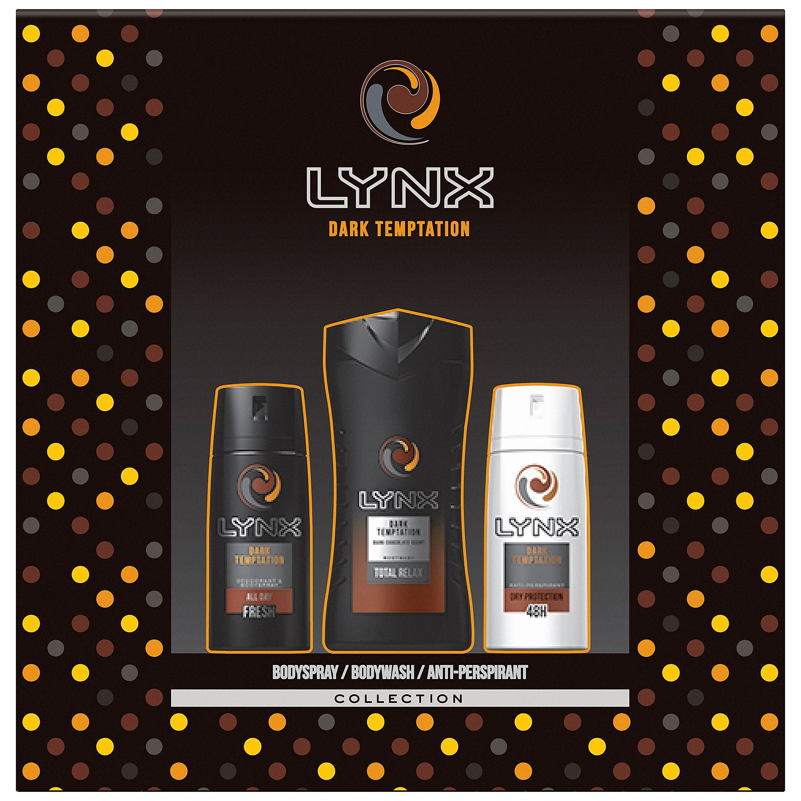Lynx Dark Temptation Trio Gift Set for Men, Exclusive To Amazon 8710522342596