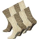 Lote de 2o 4pares de calcetines noruegos en lana conpuntos antideslizantes