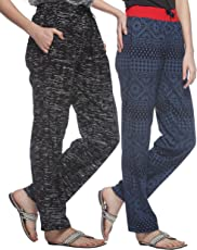 Shaun Women's Cotton Track Pants - Pack of 2