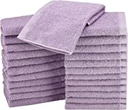 AmazonBasics Cotton Washcloth/Face Towel - 448 GSM - Pack of 24, Lavender