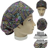 Cappello sala operatoria donna ETNICO per Capelli Lunghi Asciugamano assorbente sulla fronte facilmente regolabile…
