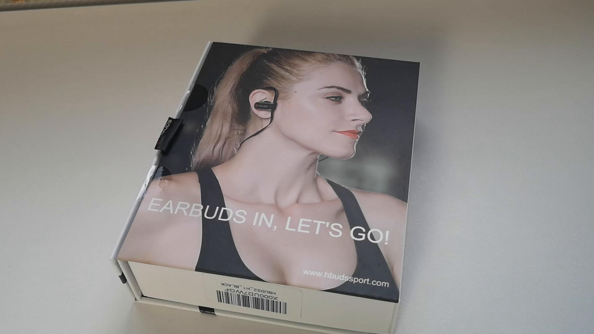 Auriculares Bluetooth 4.1 HBUDS Auriculares Deportivos Inalámbricos Estéreo In-Ear Auriculares con Micrófono 8-9 Hrs y Cancelación de Ruido para iPhone XS ...