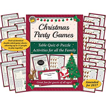 christmas party games table quiz and puzzle activities for family office xmas parties - Fun Christmas Party Games