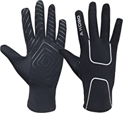Kobo RG-02 Fleece Running Gloves with Silicon Grip