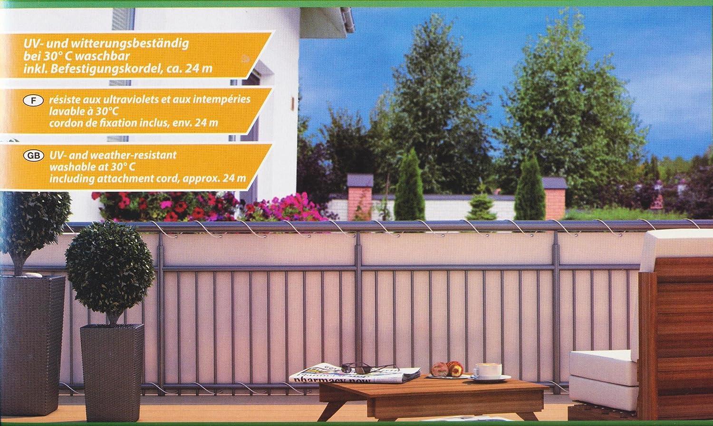 Amazon Home Garden Balkonsichtschutz Bode LxH ca 600x90 cm creme