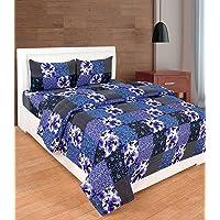 Dynamic Homes Cotton 144 TC Bedsheet (Blue_King)