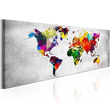 Murando   Bilder Weltkarte 135x45 Cm   Leinwandbilder   Fertig Aufgespannt    Vlies Leinwand   1