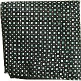 Paul Malone de carré de poche mouchoir 100% soie Vert carreaux