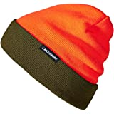 Lakeshore® Wendbare Jagdmütze I Signal Warn Mütze für die Drück-Jagd I Orange/Olive