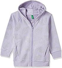 United Colors of Benetton Girls' Sweatshirt (17A3UN3CZ306G_Off White_EL)