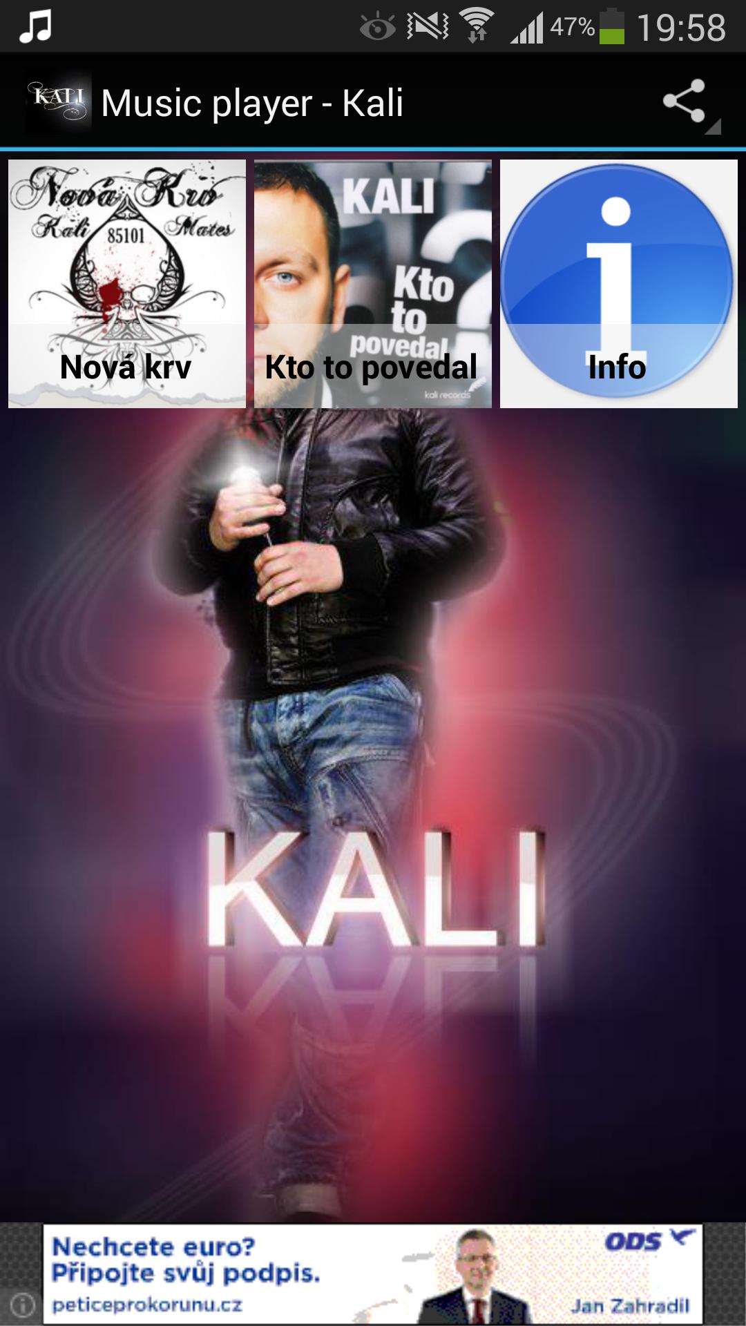 Music player - Kali Screenshot