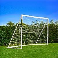 FORZA Fußballtor mit einem Klicksystem – das Fußball-Tor kann das ganze Jahr über bei jedem Wetter draußen Lassen Stehen…
