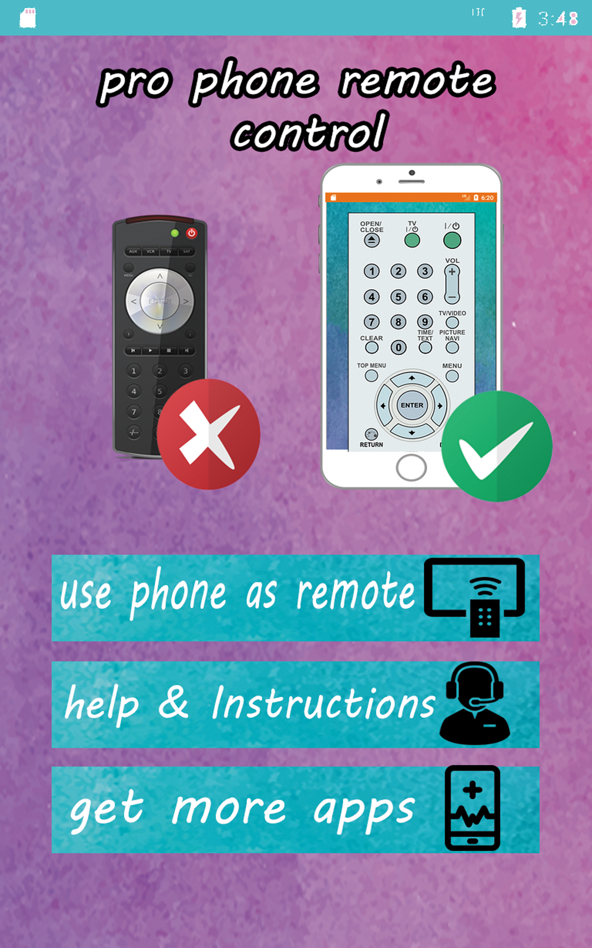 Zoom IMG-3 pro tv remote control phone