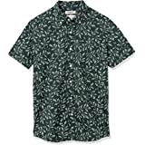 Marchio Amazon - Goodthreads - Standard-fit Short-sleeve Anchor-print Shirt, Camicia Uomo