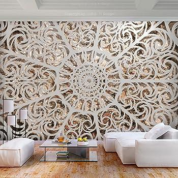 ... 350x256 Cm XL | Tapete | Wandbild | Wandbild | Bild | Fototapeten |  Tapeten | Wandtapete | Wanddeko | Wandtapete | Steinwand Orient Muster Weiß  Braun