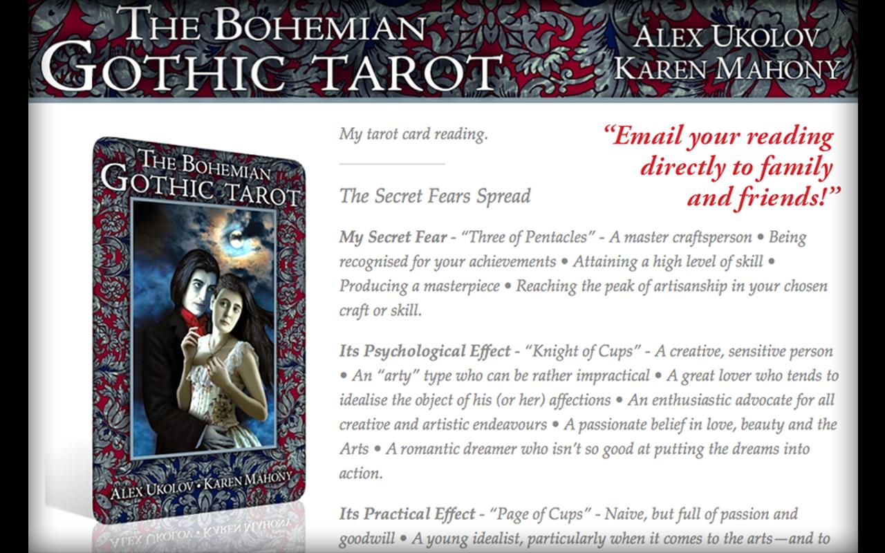 The Bohemian Gothic Tarot - Alex Ukolov & Karen Mahony