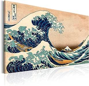 Katsushika Hokusai Leinwandbild Die große Welle vor Kanagawa