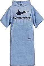 Atlantic Shore | Surf Poncho ➤ Bademantel / Umziehhilfe aus hochwertiger Baumwolle ➤ Light Blue