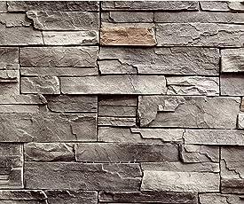 Decomonkey | Fototapete Steinwand Steine 400x280 Cm XXL | Design Tapete |  Fototapeten | Tapeten |