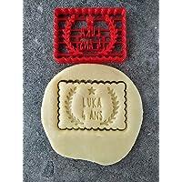 Emporte-pièce étoile et lauriers - Petit beurre - Personnalisable avec prénom et date ou âge | Conçu et fabriqué en…