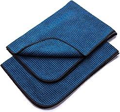 AURUM - PERFORMANCE Saugstarke Waffeltücher aus Weicher Microfaser – Auto Microfasertuch für schlierenfreie Anwendung auf Autoscheiben, Glas und Lack – 60x40cm (2er Set)