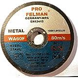 Pro Felman WA60F Lot de 10 disques à tronçonner pour acier 125 x 1,0 mm T41 Inox Certifié EN12413