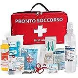 AIESI® Cassetta medica di pronto soccorso (Borsa) con ALLEGATO 2 per aziende meno 3 dipendenti # Conforme DM388/DL81…