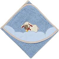 100/% Baumwolle wei/ß und blau Mit individuellem Stick Vertrieb durch presents /& more Baby Badetuch mit Namen