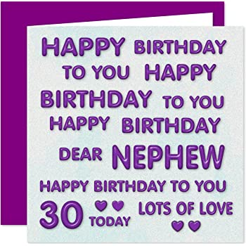 Nephew 30th Happy Birthday Card
