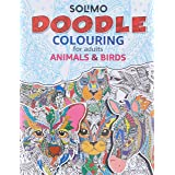 Amazon Brand - Solimo Doodle Colouring for Adults - Animals & Birds