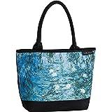 VON LILIENFELD Handtasche Damen Kunst Motiv Claude Monet Seerosen Shopper Maße L42 x H30 x T15 cm Strandtasche Henkeltasche B