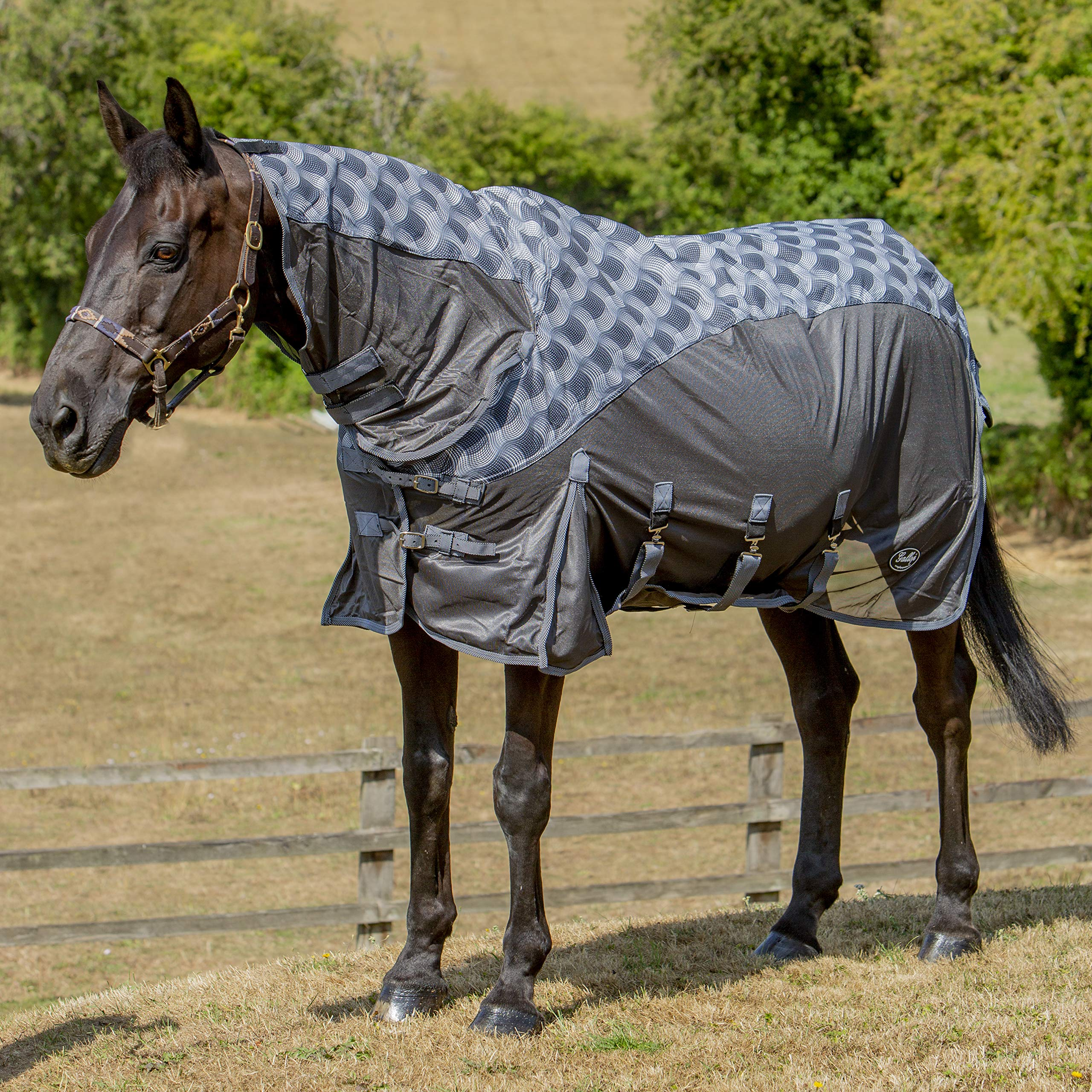 Best On Horse Boh 200G Mediumweight 600D Rip Stop Fixed Combo Neck Waterproof Turnout Blanket
