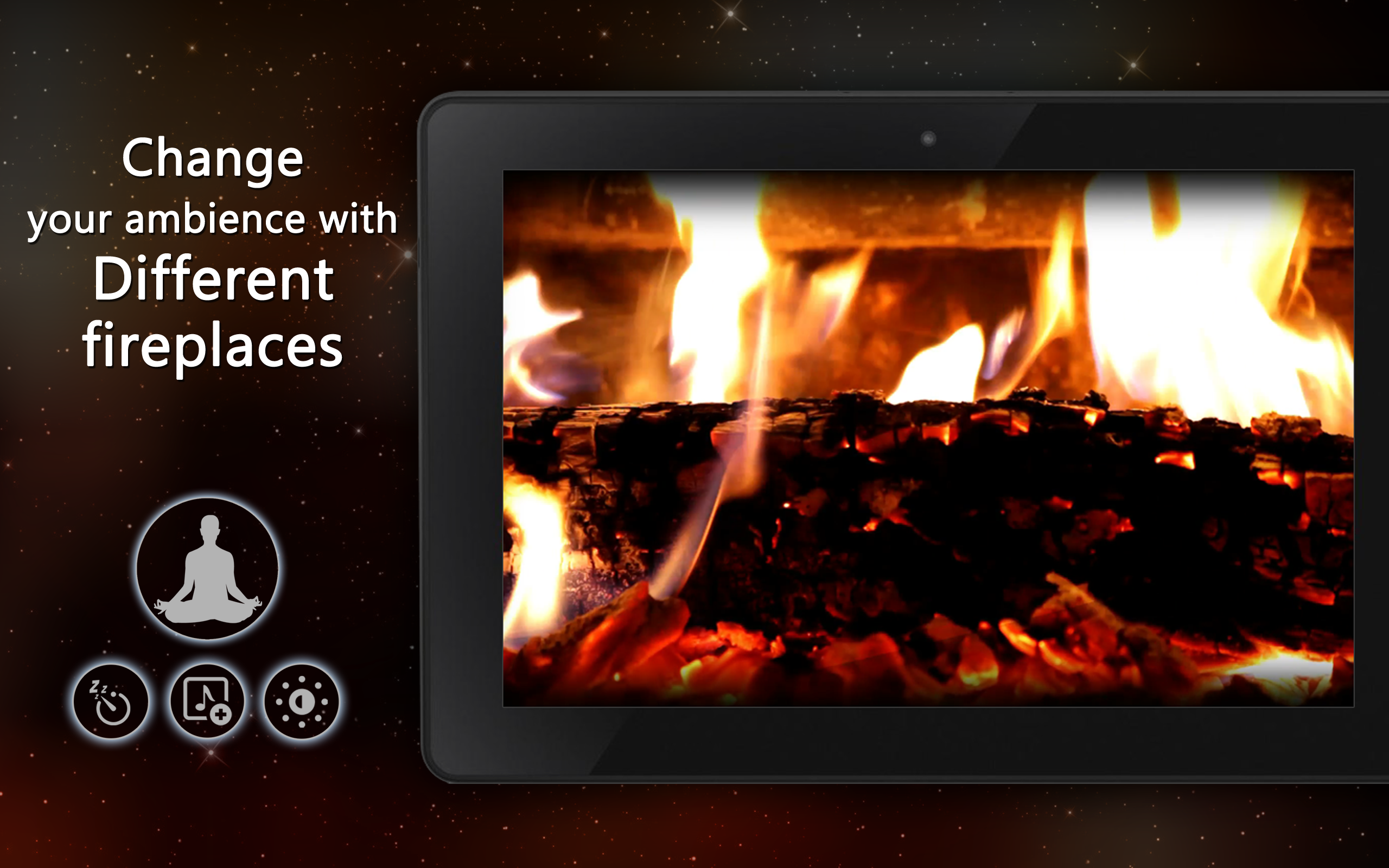 calm fireplace tv amazon co uk appstore for android