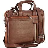 Storite PU Leather Laptop bag fits upto 14 inch Laptop Messenger Organizer Bag/Shoulder Sling Office Bag for Men & Women (39c