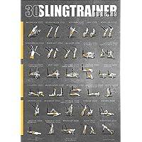 WINDHUND Übungsposter Slingtrainer - großes DIN A1 Poster mit 30 Übungen