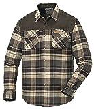 Pinewood Herren Hemd Douglas Herrenhemd, Grün/Braun, XL