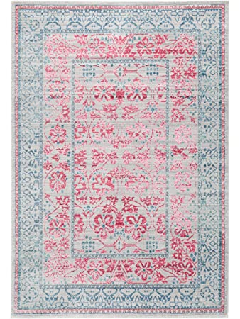 benuta teppich visconti grau/pink 120x180 cm | moderner teppich ... - Schlafzimmer Grau Pink