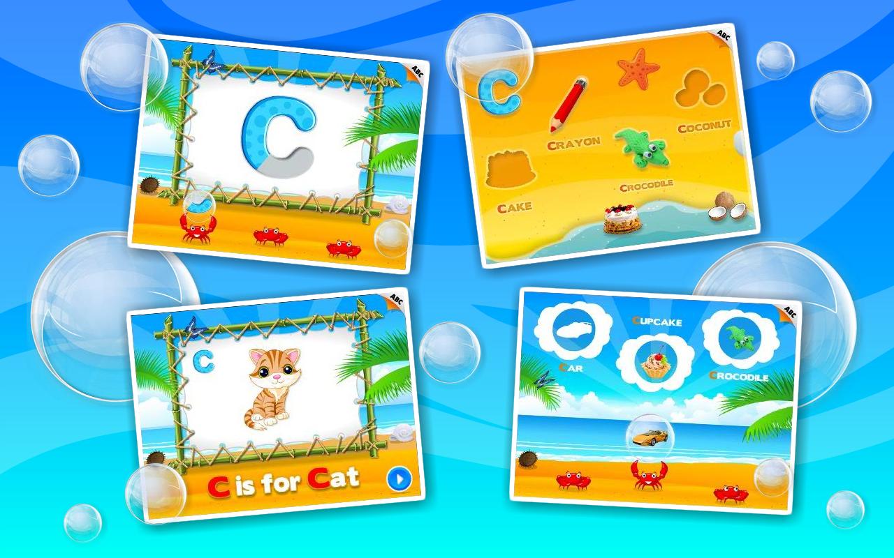Alphabet Aquarium Vol 1: Animated Puzzle Games with