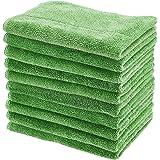 Amazon Basics Lot de 10 chiffons de nettoyage épais en microfibre