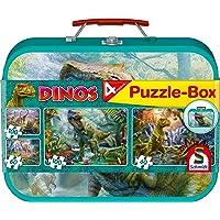 Schmidt Spiele - 56495 - Dinos, Coffret de Puzzles, 2x60, 2x100 Pcs
