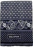 Mandhania Mayur Solapur Chaddar 100% Cotton Dailyuse Single Bed Blanket Pack of 1 Blue