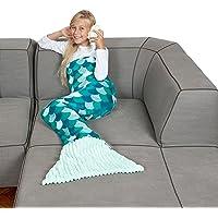 Kanguru Sirena by Couverture Plaid Kids fillettes, jeunes filles, en polaire douce. longue 135 cm, 100% polyester…