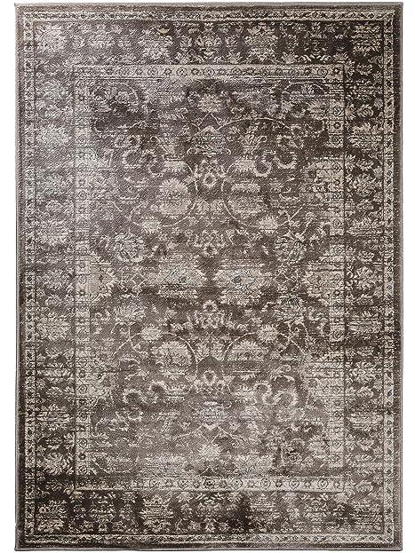 benuta Vintage Teppich im Used-Look Velvet Braun 80x150 cm ...